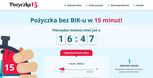 pozyczka15.pl opinie klientów firmy Pożyczka 15